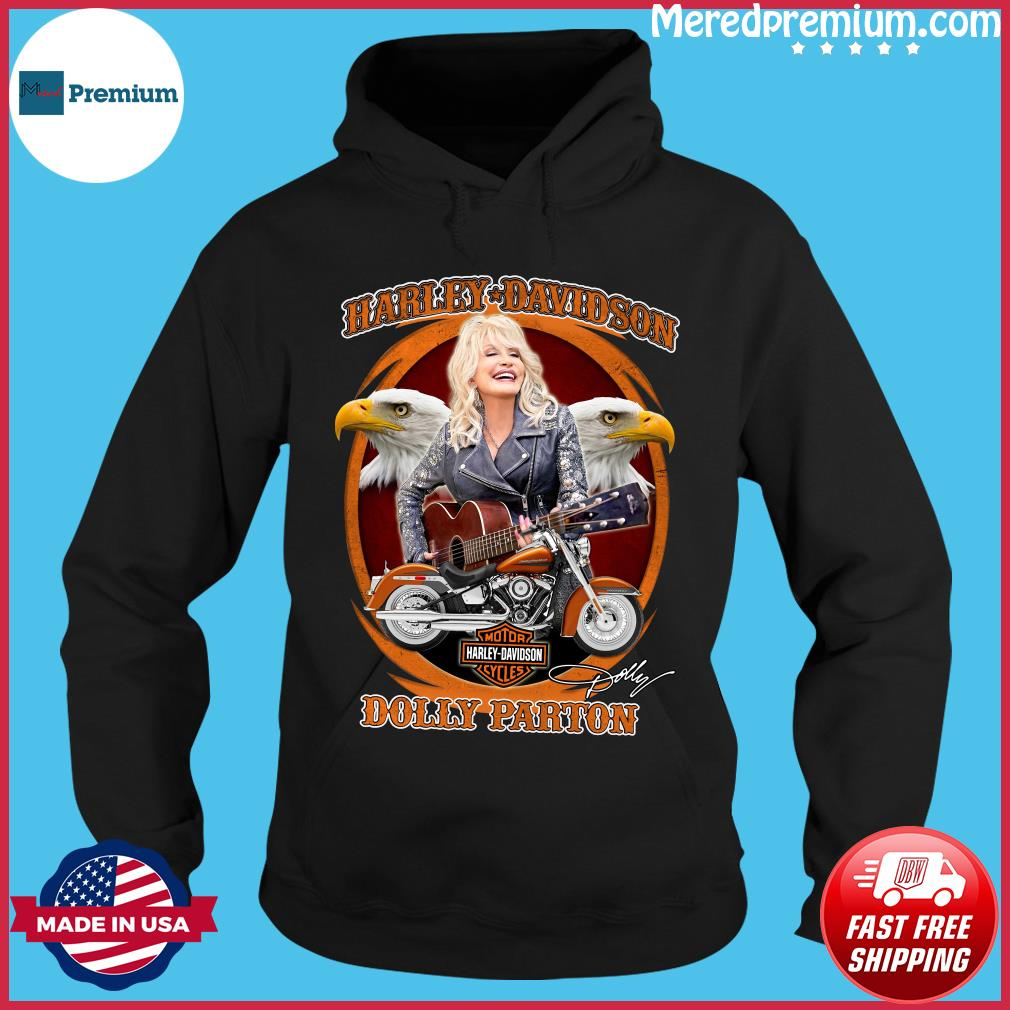 Motor Harley Davidson Cycles Dolly Parton Signature Shirt Hoodie