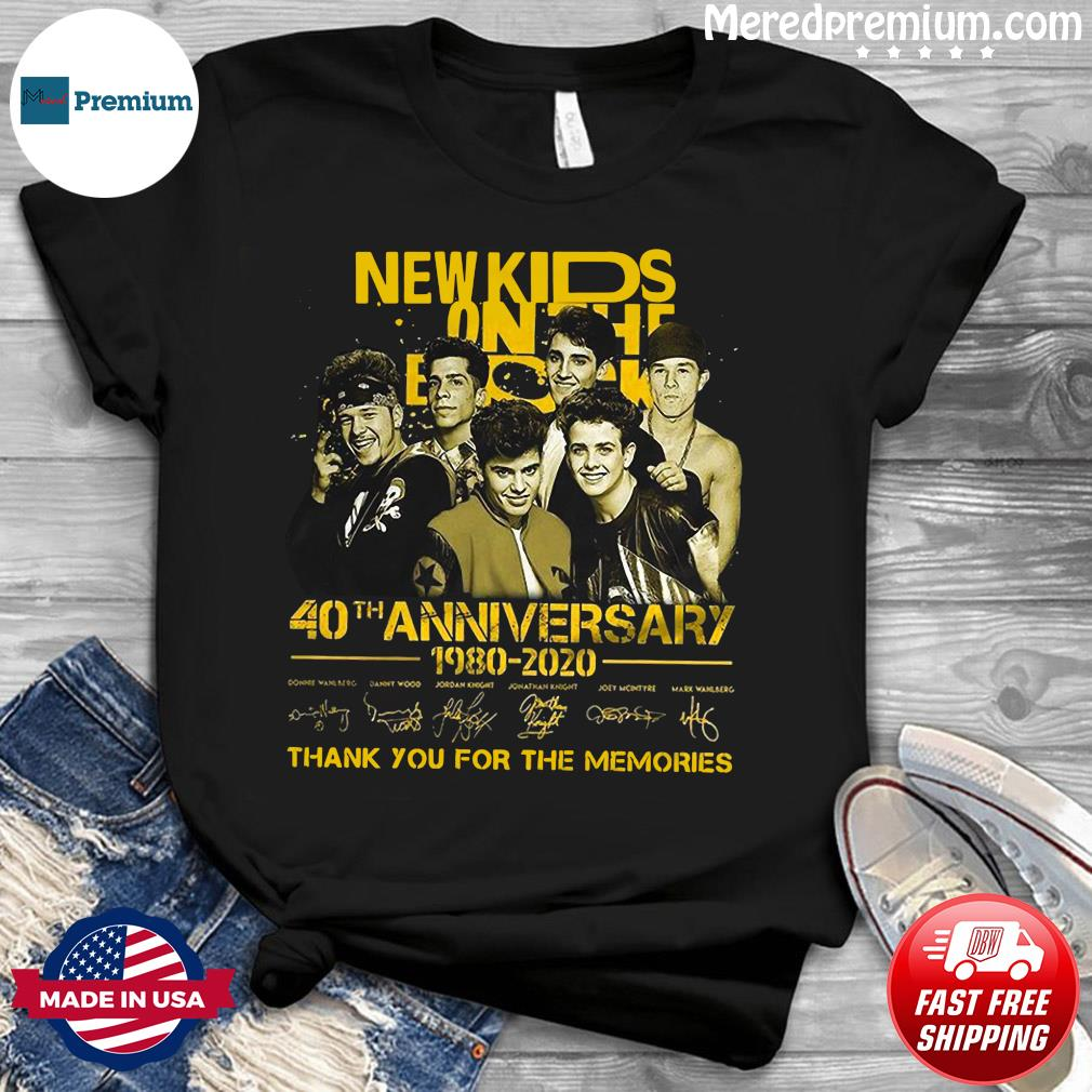 New Kids On The Dead 40th Anniversary 1980 2020 Thank You For The Memories Signatures Shirt