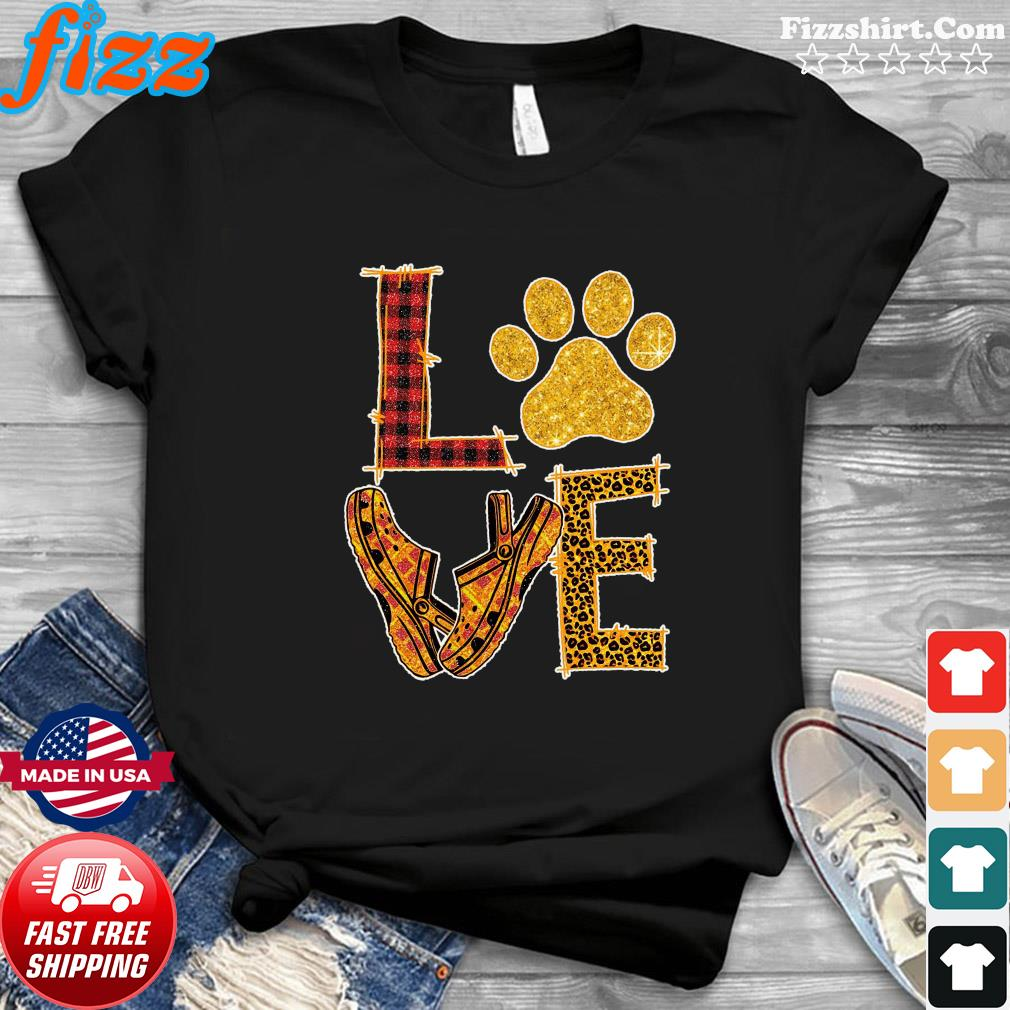 Love Paw Dog Crocs Shirt