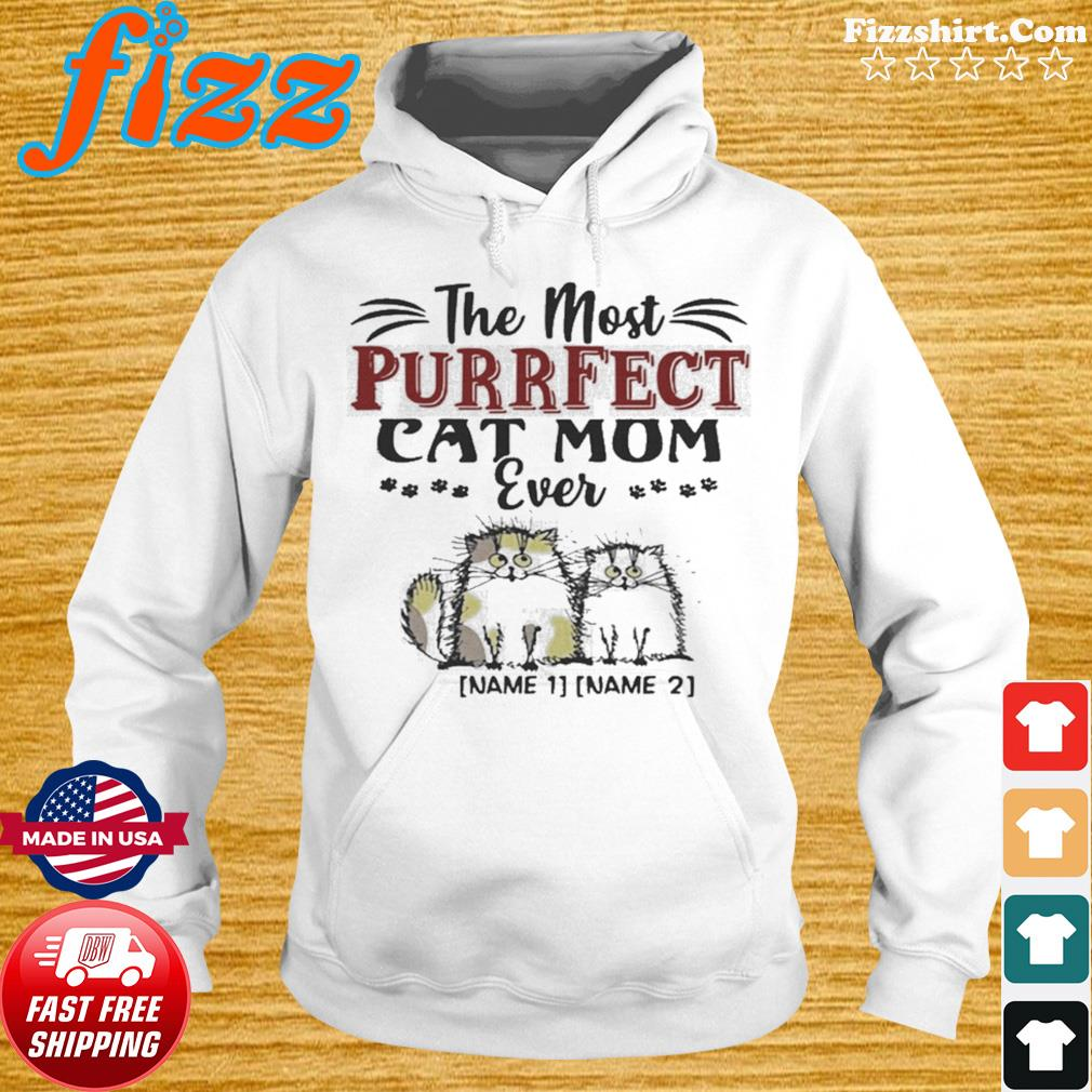 Personalized the Most Purrfect Cat Mom Ever 2 Accent s Hoodie