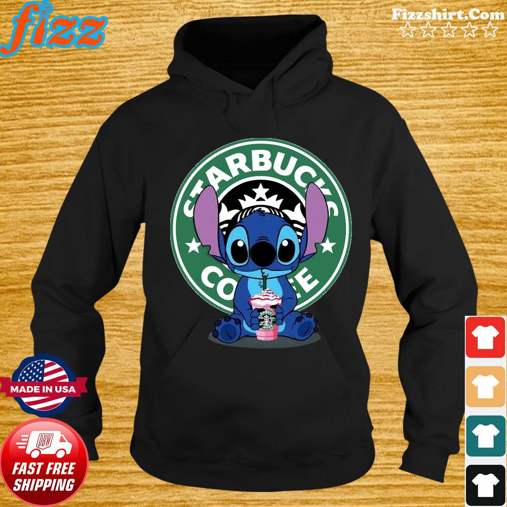 Stitch Drinking Starbucks Coffee Shirt Hoodie