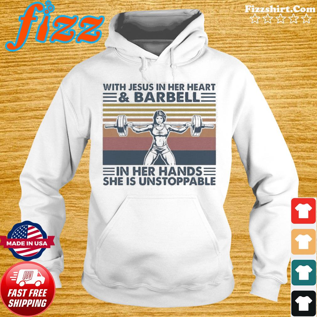 With Jesus In Her HeartBarball In Her Hands She Is Unstoppable Vintage Shirt Hoodie