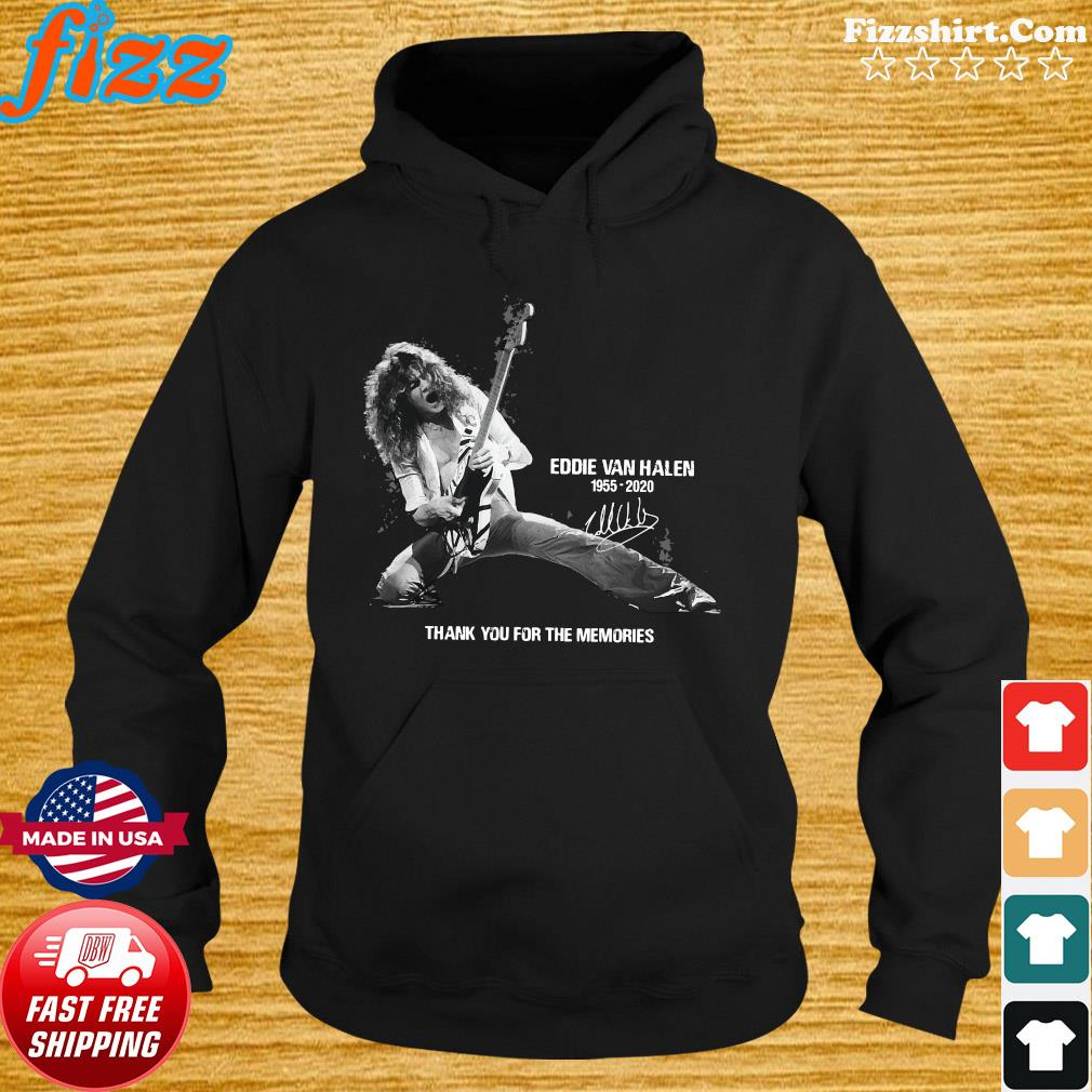 Eddie Van Halen 1955 2020 Thank You For The Memories Signature Shirt Hoodie
