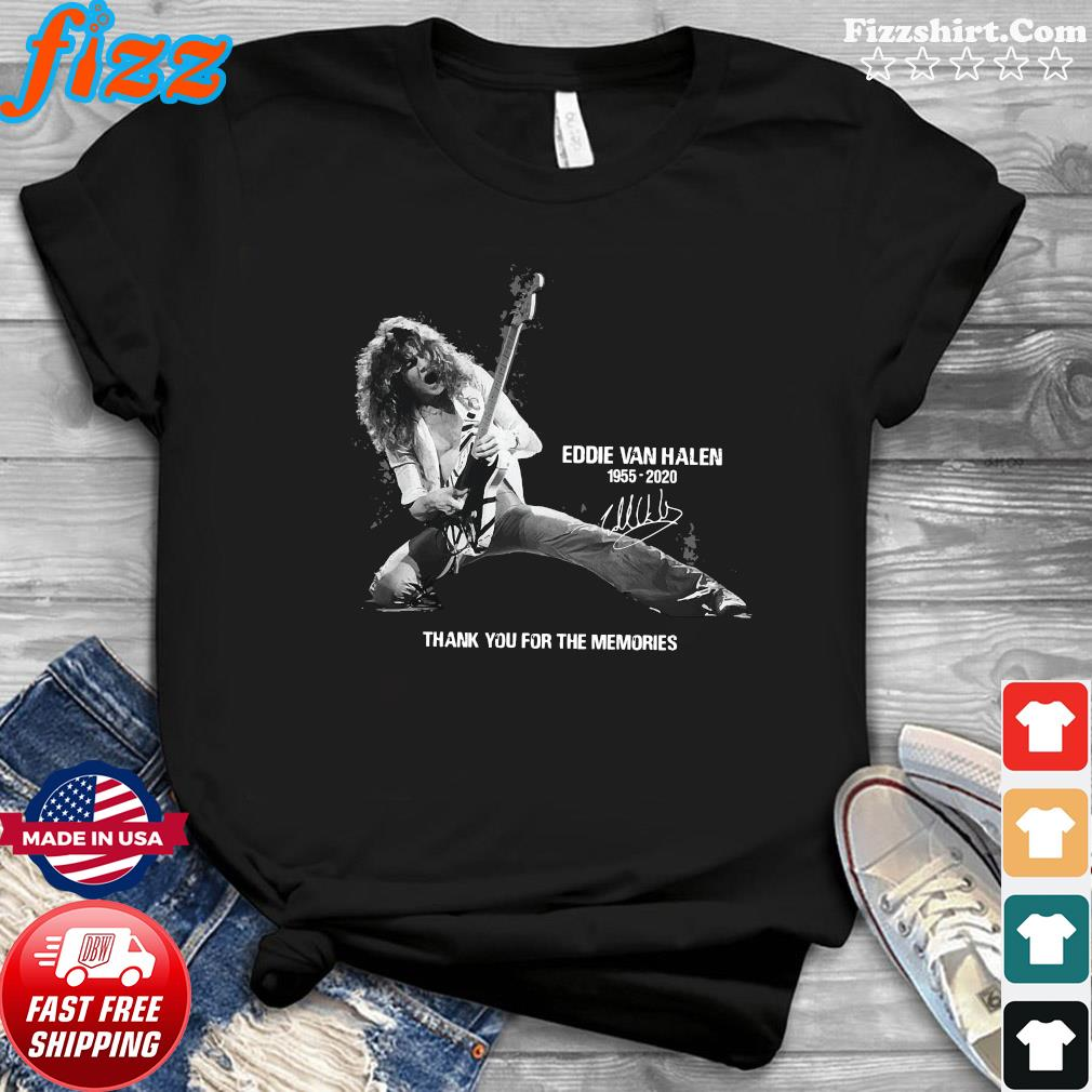 Eddie Van Halen 1955 2020 Thank You For The Memories Signature Shirt