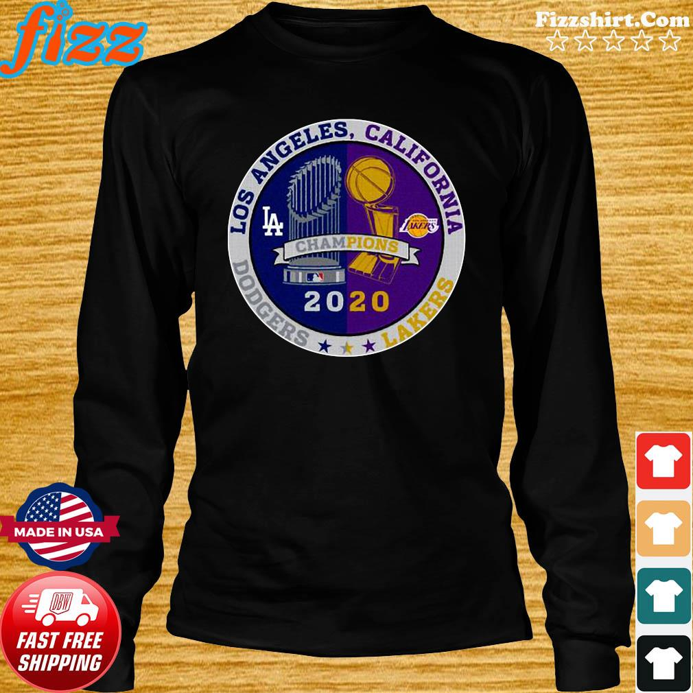 Los Angeles California Los Angeles Dodgers Lakers Champions 2020 T-Shirt Long Sweater