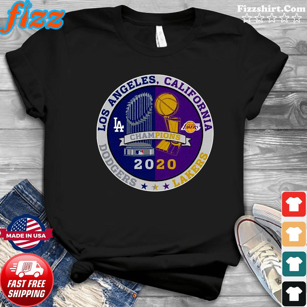 Los Angeles California Los Angeles Dodgers Lakers Champions 2020 T-Shirt