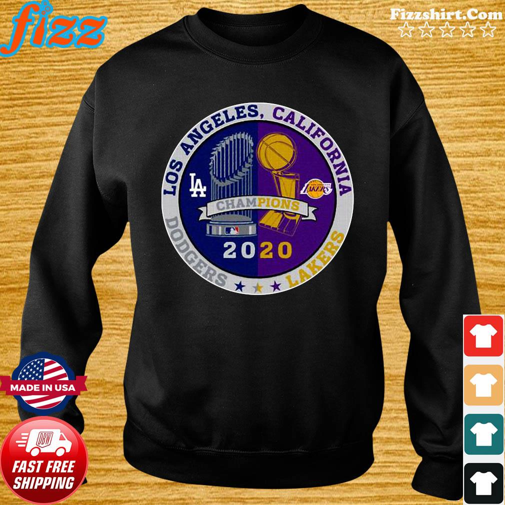 Los Angeles California Los Angeles Dodgers Lakers Champions 2020 T-Shirt Sweater