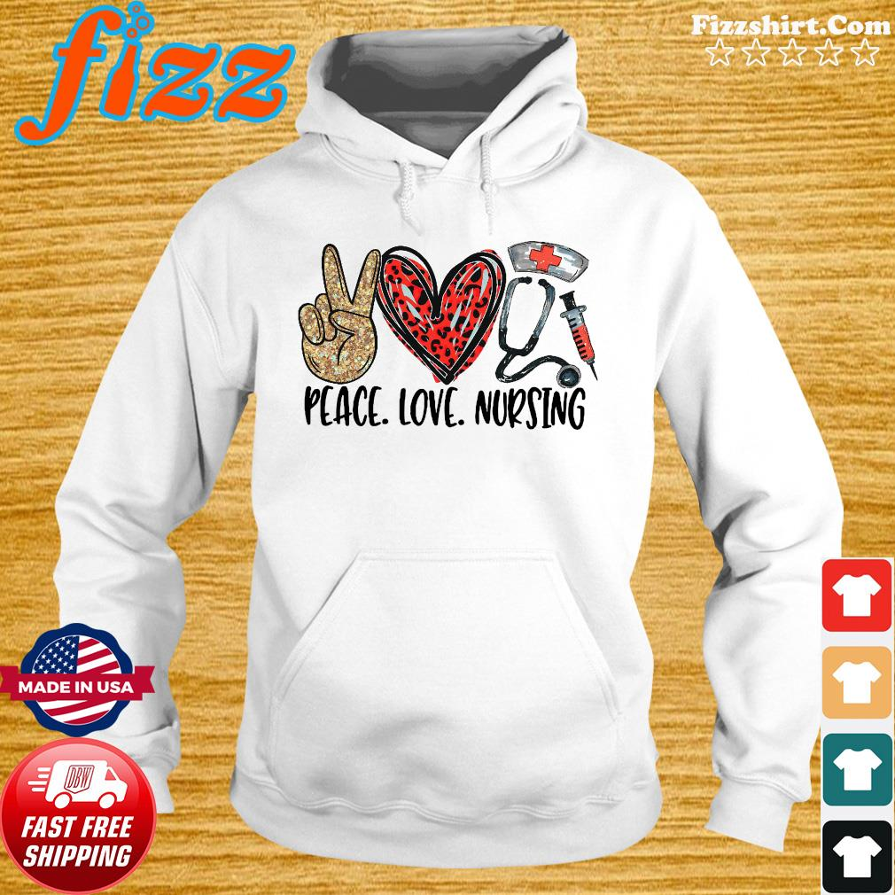 Official Diamond Peace Love And Nursing 2021 Shirt Hoodie