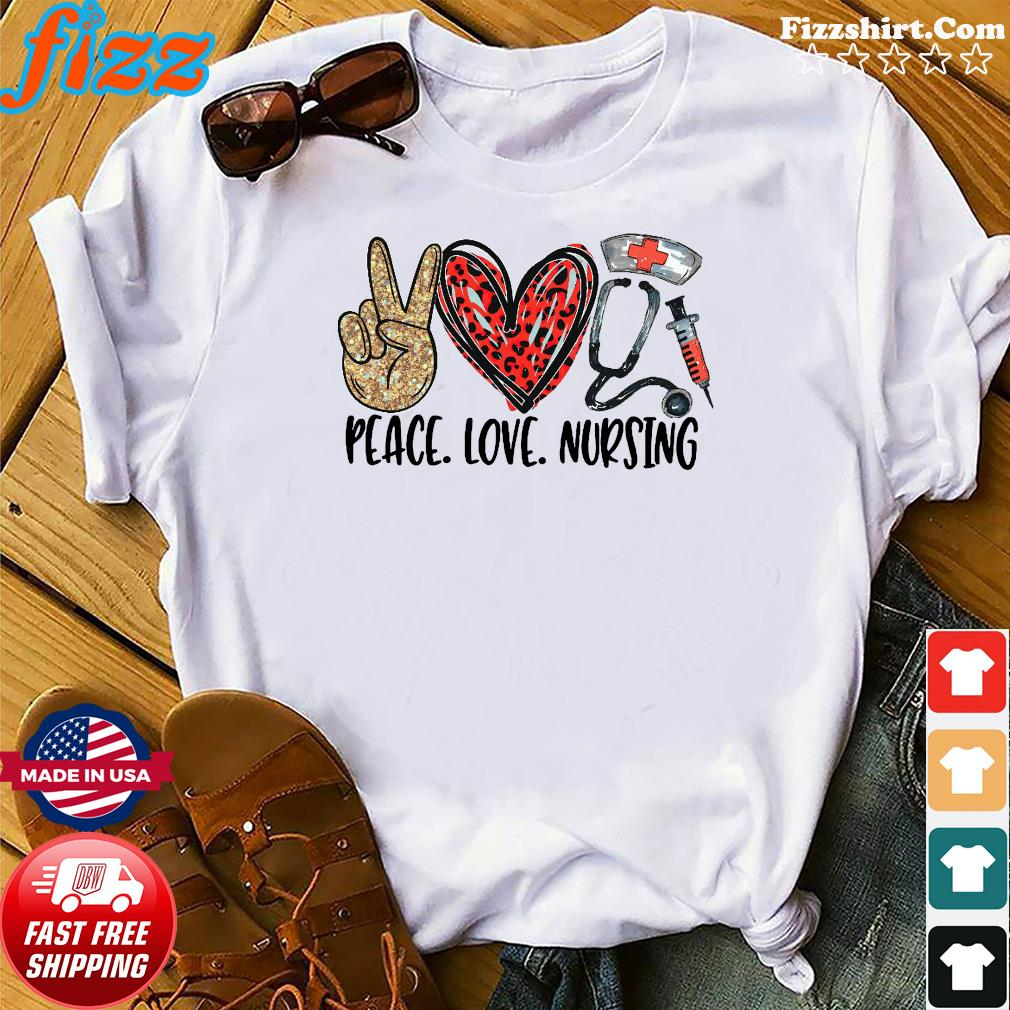 Official Diamond Peace Love And Nursing 2021 Shirt