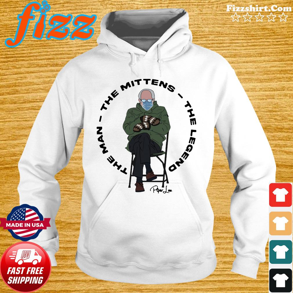 Official The Man The Mittens The Legend With Bernie Sander 2021 Signature Shirt Hoodie