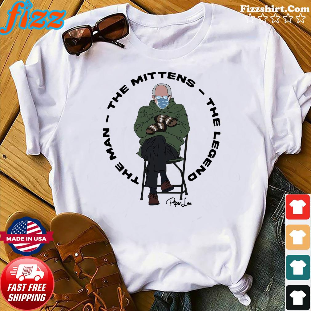 Official The Man The Mittens The Legend With Bernie Sander 2021 Signature Shirt