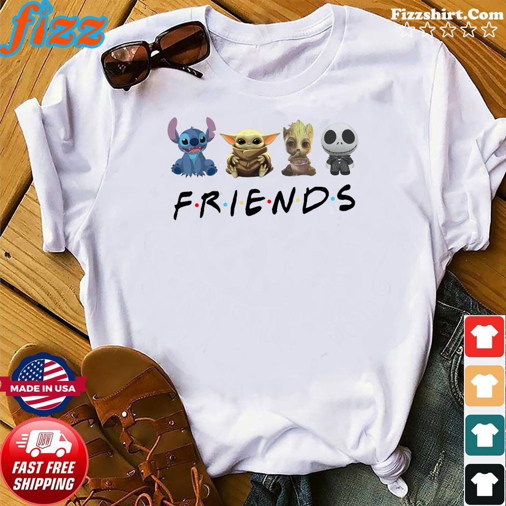 Stitch Baby Yoda Groot Jack Skellington Friends Shirt